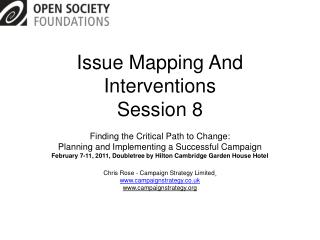 Issue Mapping And Interventions Session 8