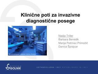 Klinične poti za invazivne diagnostične posege