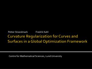 Curvature Regularization for Curves and Surfaces in a Global Optimization Framework