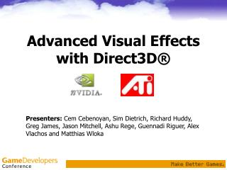 Advanced Visual Effects with Direct3D®