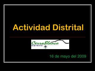 Actividad Distrital