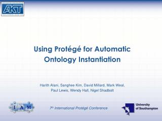 Using Prot�g� for Automatic  Ontology Instantiation