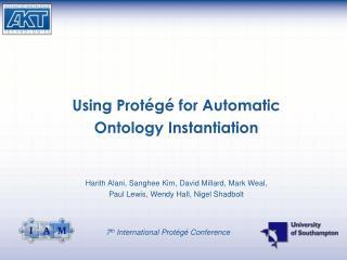 Using Protégé for Automatic  Ontology Instantiation