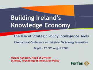 Building Ireland's Knowledge Economy