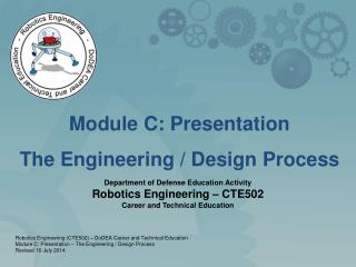 Department of Defense Education Activity Robotics Engineering – CTE502