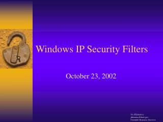 Windows IP Security Filters