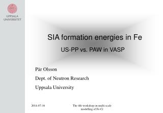 SIA formation energies in Fe