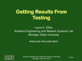 Getting Results From Testing