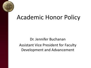 Academic Honor Policy