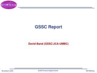 GSSC Report