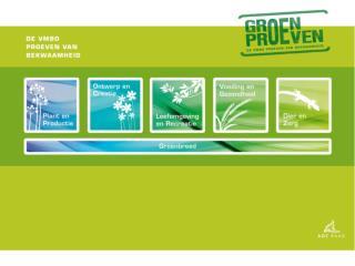 Programma Groen  kompleet