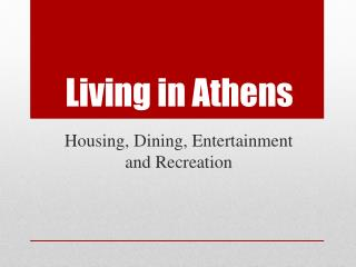 Living in Athens