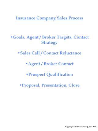 Insurance Company Sales Process