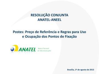 RESOLUÇÃO CONJUNTA  ANATEL-ANEEL