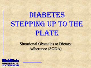 Diabetes Stepping Up to the Plate