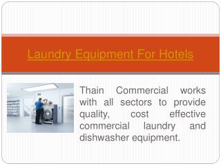 Laundry Equipment For Hotels Scotland