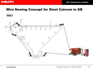 Wire Sawing Concept for Steel Caisson in GB