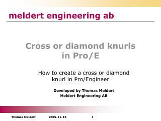 Cross or diamond knurls in Pro/E
