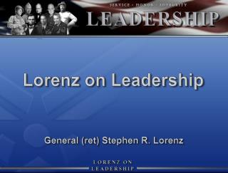 Lorenz on Leadership
