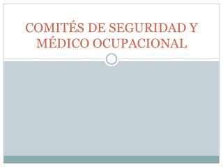COMITÉS DE SEGURIDAD Y MÉDICO OCUPACIONAL