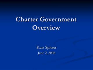 Charter Government  Overview