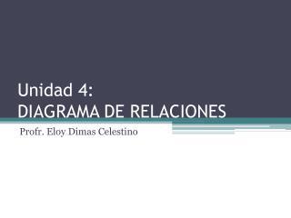 Unidad 4: DIAGRAMA DE RELACIONES