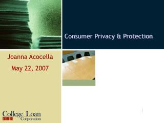 Consumer Privacy  Protection