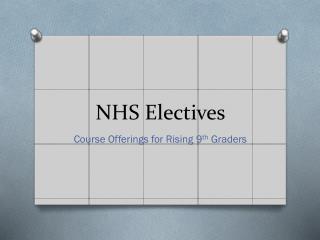 NHS Electives