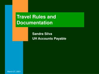 Travel Rules and Documentation