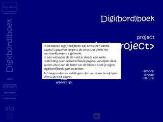 Digi(bord)boek