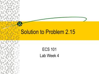 Solution to Problem 2.15