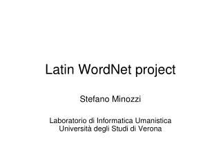 Latin WordNet project