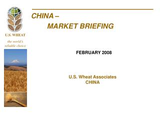 CHINA –  	MARKET BRIEFING