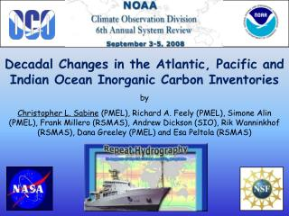 Decadal Changes in the Atlantic, Pacific and Indian Ocean Inorganic Carbon Inventories by