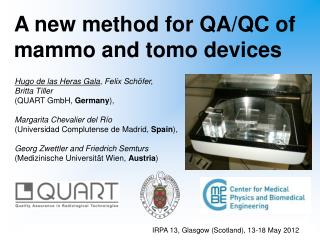 A new method for  QA/QC of  mammo  and  tomo  devices