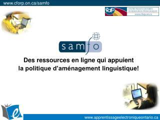 Des ressources en ligne qui appuient la politique d am nagement linguistique