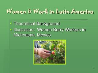 Women & Work in Latin America
