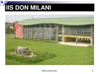 IIS DON MILANI