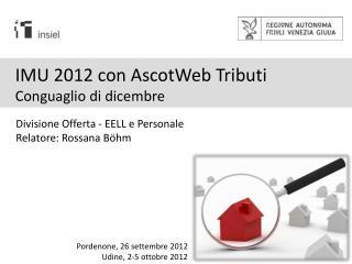 IMU 2012 con AscotWeb Tributi Conguaglio di dicembre