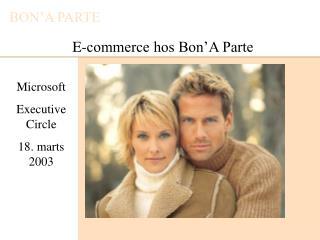 E-commerce hos Bon'A Parte