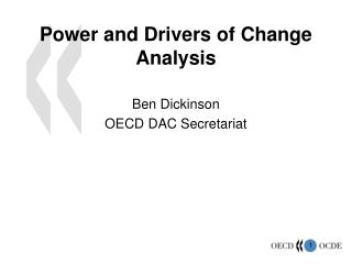Power and Drivers of Change Analysis