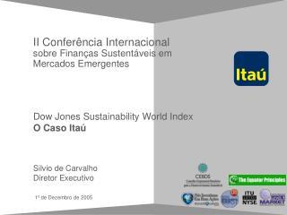 II Conferência Internacional  sobre Finanças Sustentáveis em Mercados Emergentes