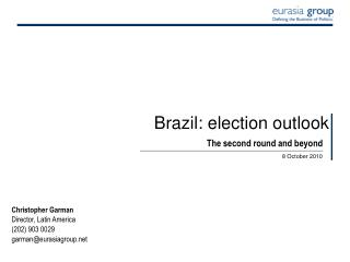 Brazil: election outlook