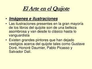 El Arte en el Quijote