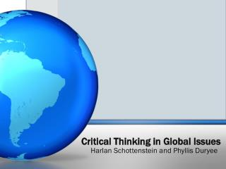 Critical Thinking in Global Issues