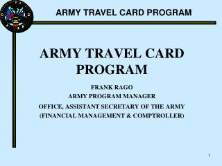 ARMY TRAVEL CARD PROGRAM
