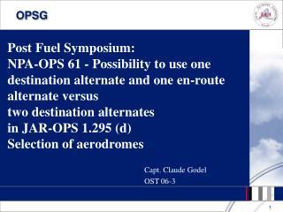 Capt. Claude Godel OST 06-3