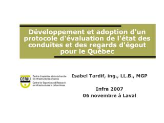 Isabel Tardif, ing., LL.B., MGP Infra 2007 06 novembre  à Laval
