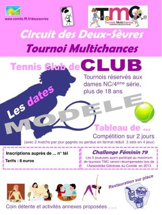 Circuit  des Deux-Sèvres  Tournoi  Multichances