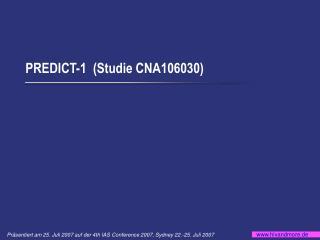 PREDICT-1  ( Studie CNA106030)